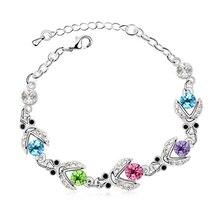 Summr jewelry, shining full rhinestone Beetle crystal bracelet for women -E52