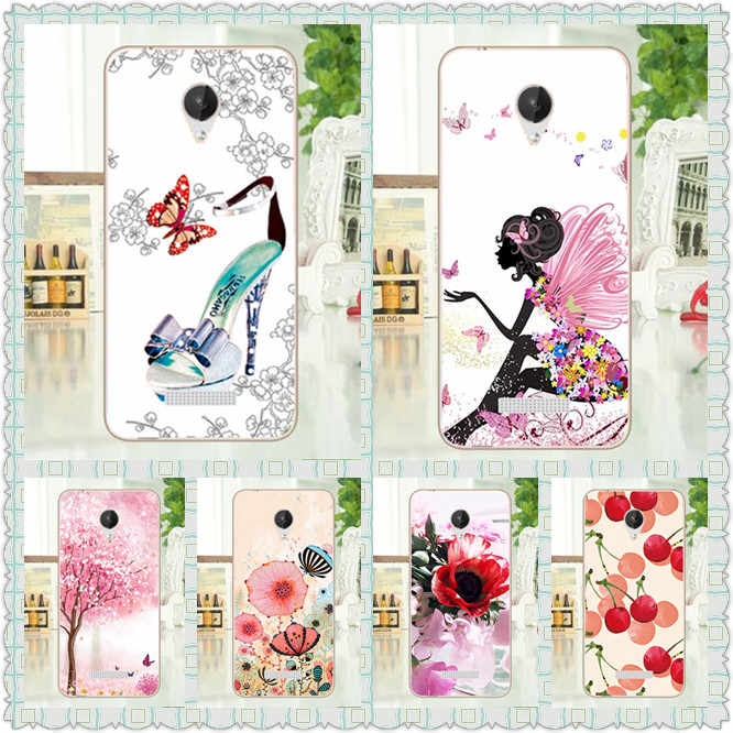 Flowers Style Soft TPU Case For Micromax Q380 q 380 Perfect Tree Design Cover Bright 10 Colors tpu case cover For Micromax q380
