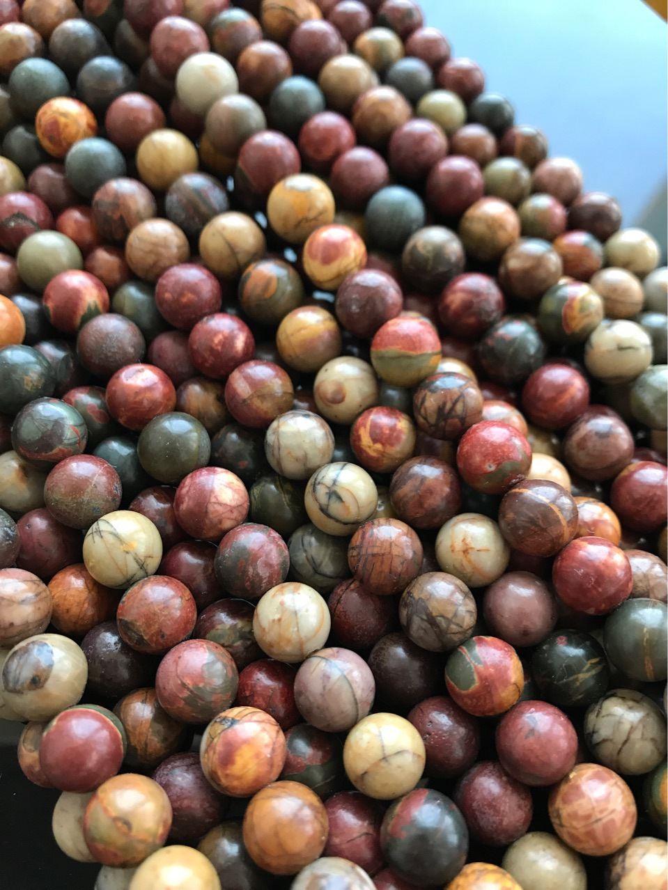 Nature Stone Picasso Jasper Beads For Jewelry Making DIY Bracelet Necklace 15'' 4mm 6mm 8mm 10mm 12mm