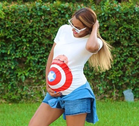 2016 New Fashion Short Sleeve Cotton Pregnancy Tshirts Captain America Printed Maternity Tops  Plus Size XXXL Mommy Wear