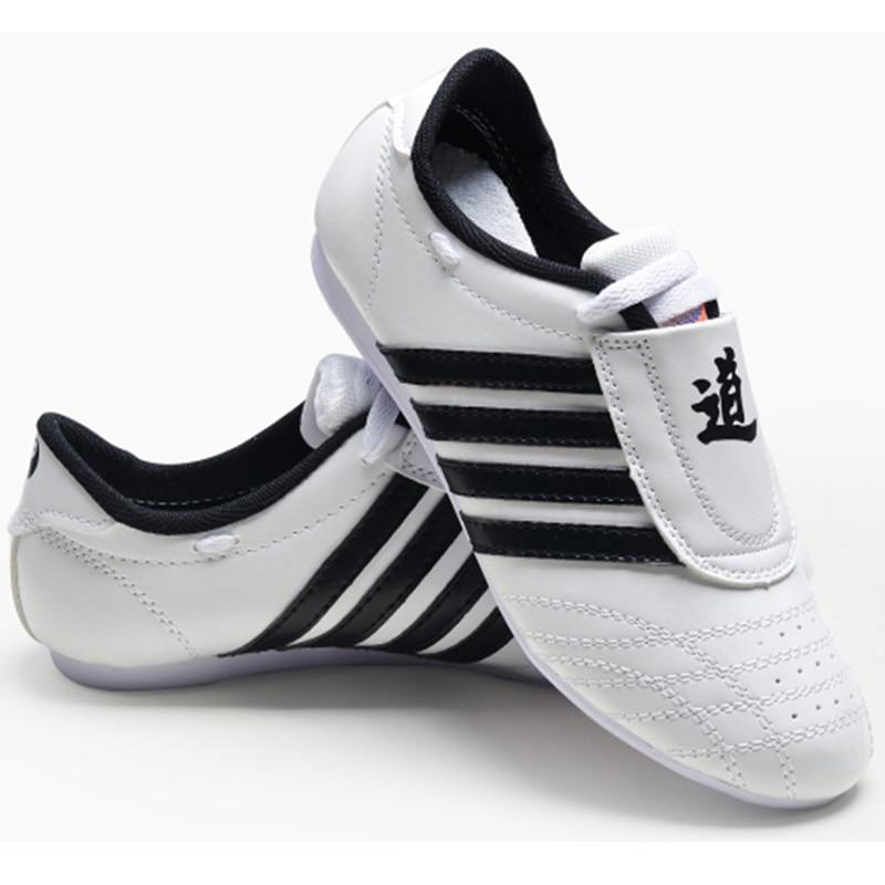 Taekwondo zapatos blancos zapatos de los hombres zapatos deportivos de alta calidad transpirable Kung Fu Wushu Taichi Karate artes marciales de lucha libre zapatillas de deporte