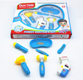New baby toy child doctor kit	set Play House Toys  with light  doctora juguetes kids toys