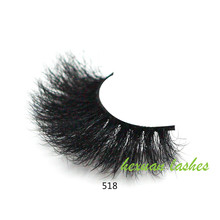 HEXUAN 100% mink eyelashes extra length 25mm lashes 5D Big dramatic volumn false 518