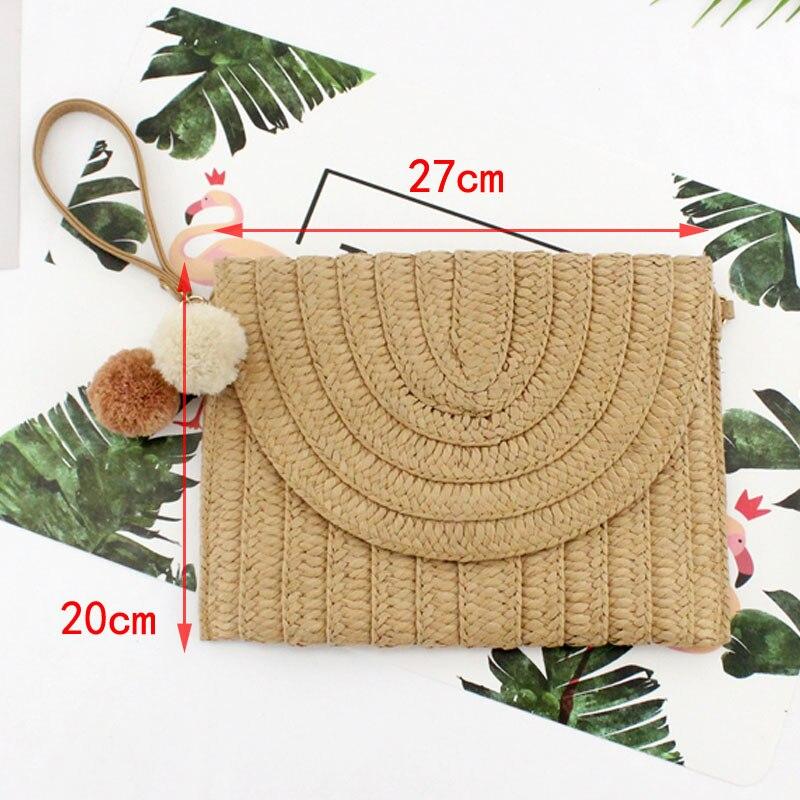 Casual-new-ball-hand-clutch-bag-shoulder-Crossbody-bag-Paper-woven-straw-bag-women-woven-handbag