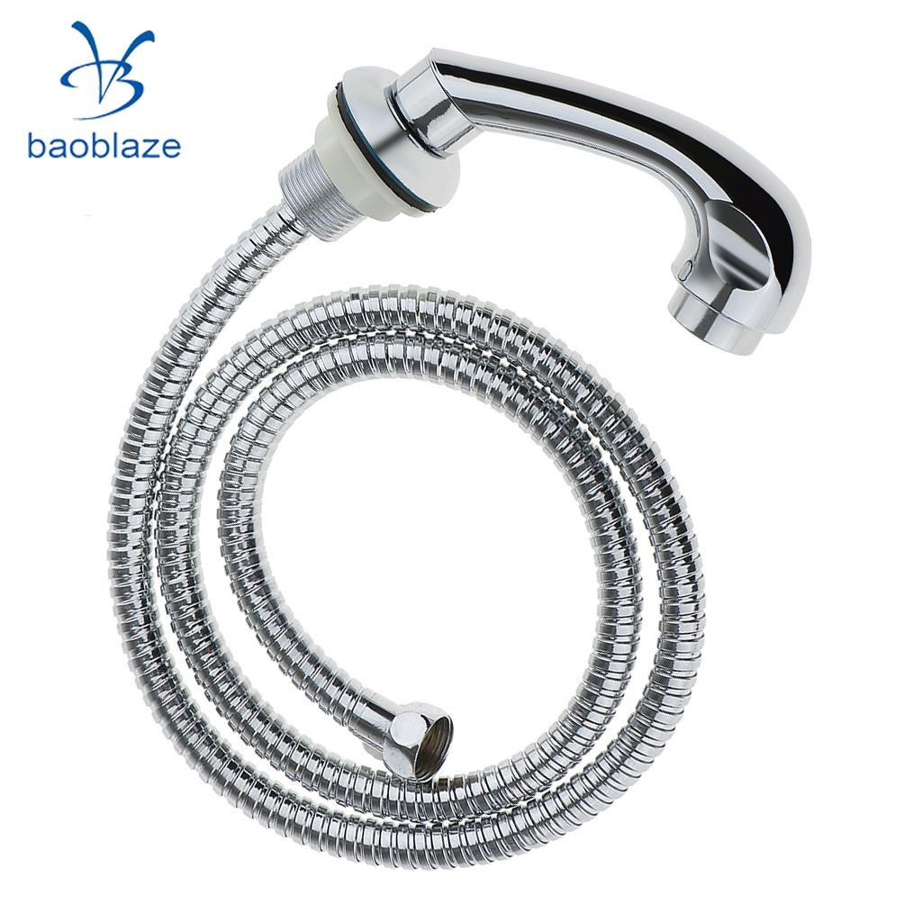 60cm Hot Cold Faucet and 120 cm Spray Hose Sprayer Set with Salon Shampoo Bowl Neck Rest Pillow Cushion Kit