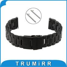 22mm Libération Rapide Montre Bande pour LG G Watch W100 R W110 urbain W150 Asus Zenwatch 1 2 22mm Pebble Temps Boucle Bracelet Bracelet