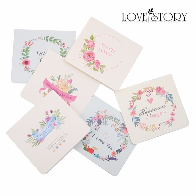 6pcs Birthday Greeting Card Postcards Gift Cards Thank You Cards
