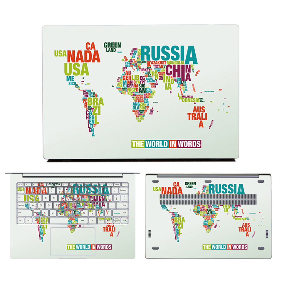 "Colorful Laptop Sticker for Xiaomi Notebook Pro 15.6"" Full Set Print Decal Vinyl Laptop Skin Sticker for Xiaomi Air 12 13 inch"