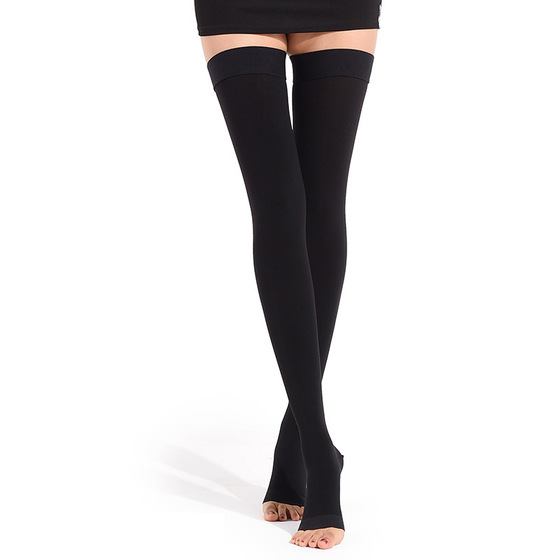 Level 1 A Pair Medical Socks Compression Stockings Varicose Veins 15-22mmHg Pressure Mid-Calf Length For Both Man And Wowan