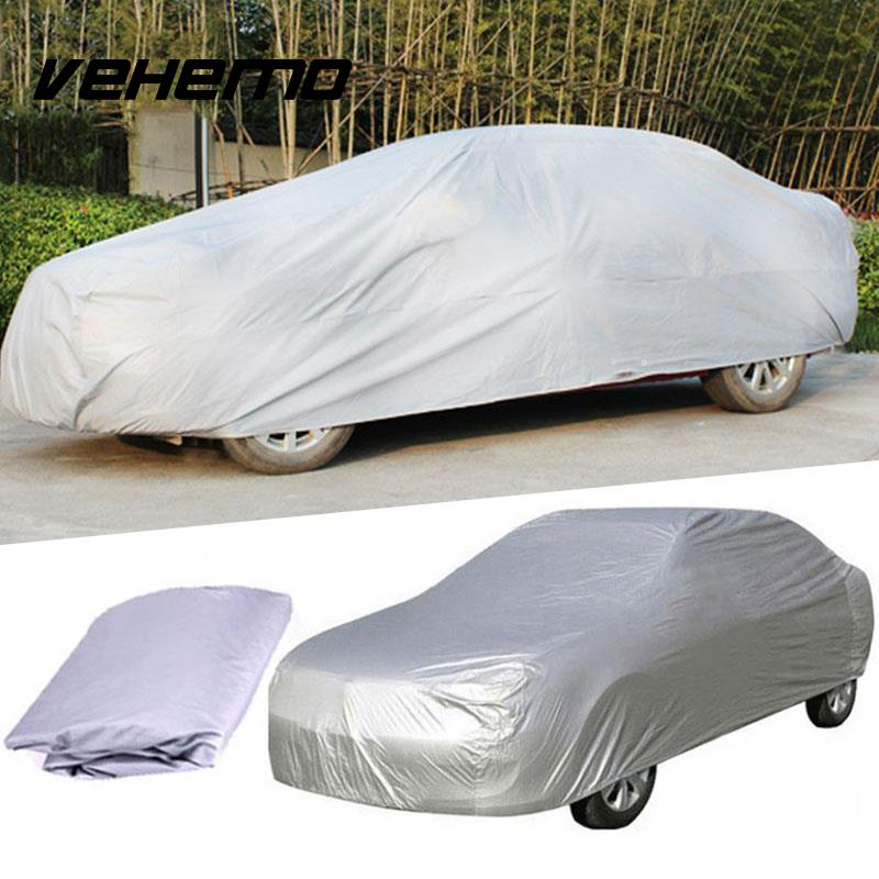 Vehemo Waterproof Car Auto Cover Protector Aganist UV Rain Resistant Snow Dust Outdoor