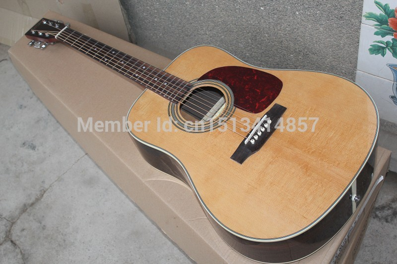 Free shipping Chinese Factory Custom 2017 100% New MT D//28 acoustic guitar matte finish neck backside ,nature color  323 free shipping chinese factory custom 2015 100