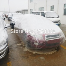 Universal White Sun Full Car Covers Waterproof Dustproof Contraction Plastic Covering Car Covers For Car Styling