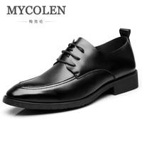 MYCOLEN Hot Sale Mens Leather Formal Shoes Dress Shoes Pointed Toe Shoes Men For Wedding Spring Summer Formal Men Shoes