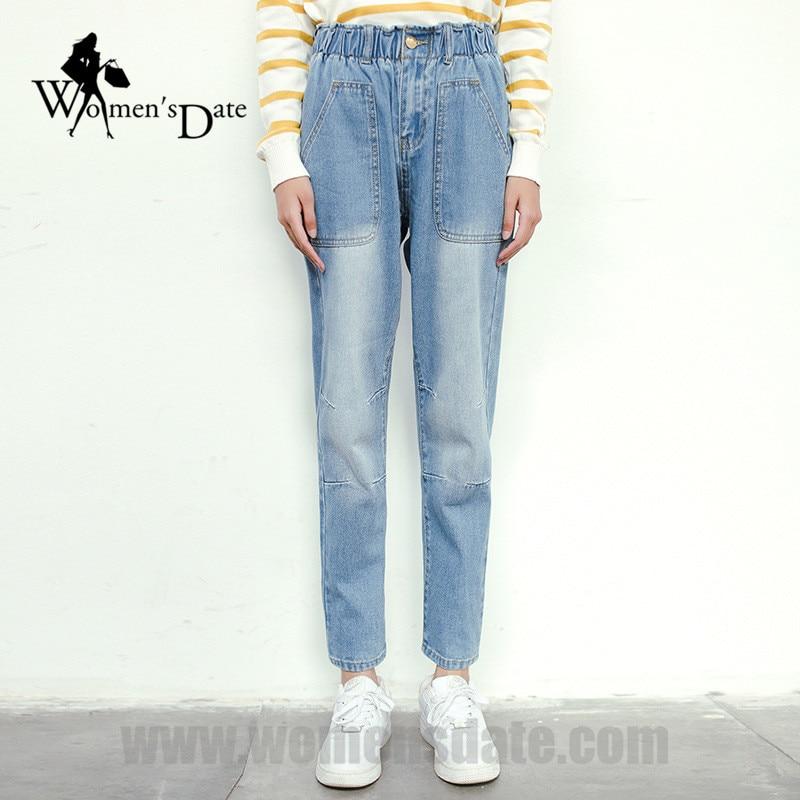 WomensDate 2016 New Fashion Autumn Jeans Women Mid Waist Loose Long Pants High Quality Denim Harem Pants Jeans For Women S M L autumn fashion mid waist jeans high