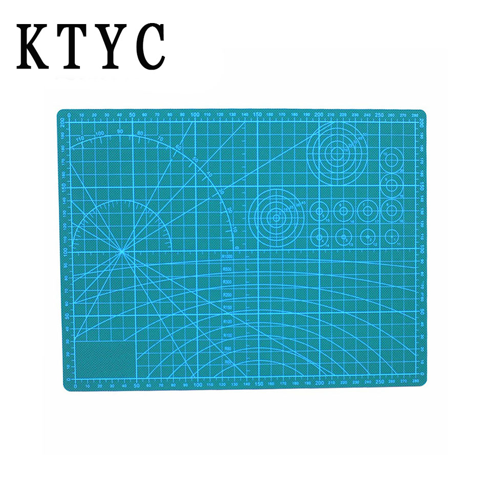 KTYC A3/A4 45cm*30cm PVC Rectangle Grid Lines Self Healing Cutting Mat Tool Fabric Leather Paper Craft DIY tools Pvc Cutting a4 grid lines cutting mat craft card fabric leather paper board 30 22cm