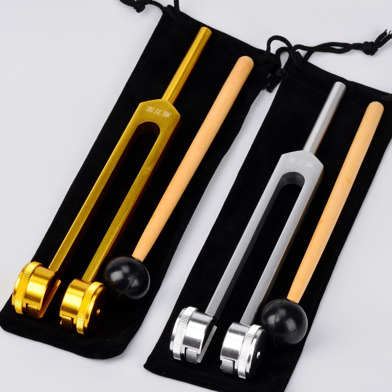 128Hz Frequency Neural tuning mining ear Tuners testing fork aluminum test Equipment Mallet Striking Hammer gold