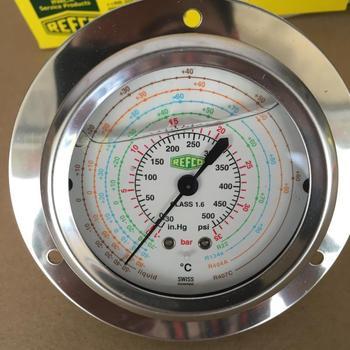 Table REFCO refrigerant oil Swiss Veeco pressure gauge pressure oil filled pressure gauge imported brand new peugeot 307 aksesuar