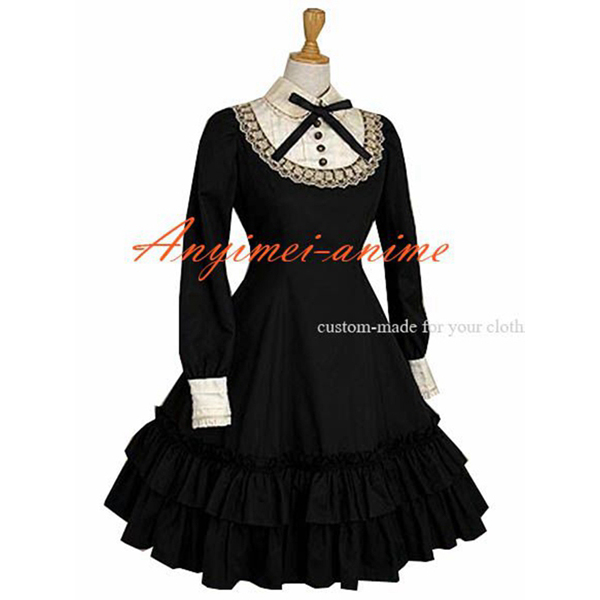 Gothic Lolita Punk Fashion Dress Cosplay Costume Have A Bowknot Custom-made[CK1197]