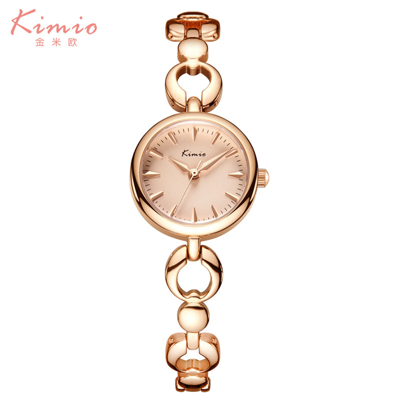 KIMIO Brand Luxury Exquisite Gold Bracelet Business Ladies Casual Clock Reloj Mujer Women Fashion Stainless Steel Quartz Watch kimio brand bracelet watches women reloj mujer luxury rose gold business casual ladies digital dial clock quartz wristwatch hot page 2