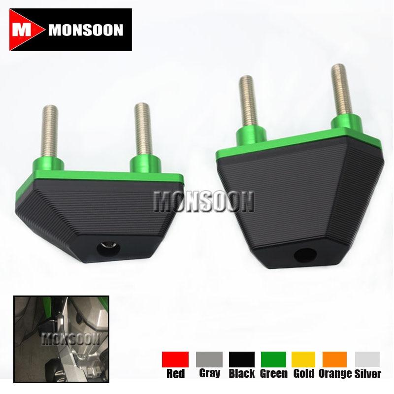 For Kawasaki Z750 07-14 Z800 13-15 Z1000 07-09 Motorcycle Accessories CNC Frame Sliders Crash Protector Green
