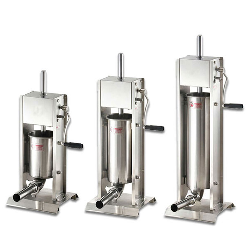 Commercial 3L/5L/7L Sausage Filler Meat Filling Machine Manual Stuffer Stainless steel Commercial Meat Processors