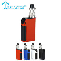 Original 150w Tesla Three Vape Kit Teslacigs Three 5000mah SUPER CAPACITY Vaporizer Carrate 24 RTA Tank Electronic Cigarette