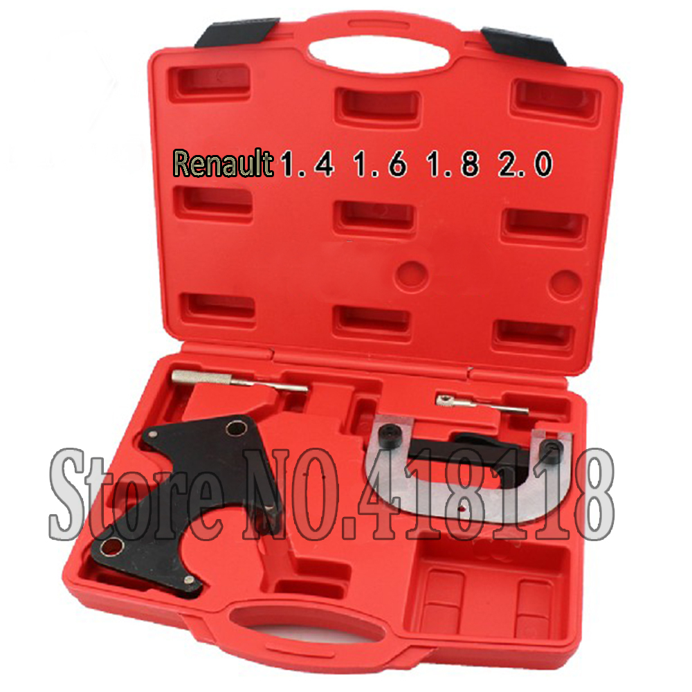 Camshaft pulley alignment tool Engine timing tool set timing belt tool for Renault 1.4 1.6 1.8 2.0 16V engine timing tool kit for renault vauxhall petrol engines 1 4 1 6 1 8 2 0 16v belt driven