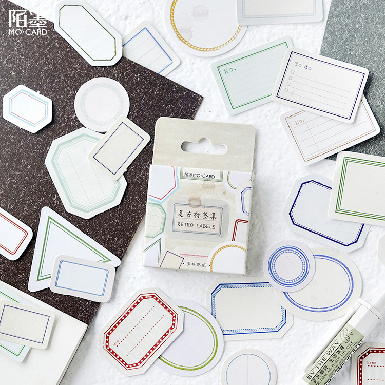 Retro Label Mark Decorative Stickers Adhesive Stickers DIY Decoration Diary Stationery Stickers Children Gift