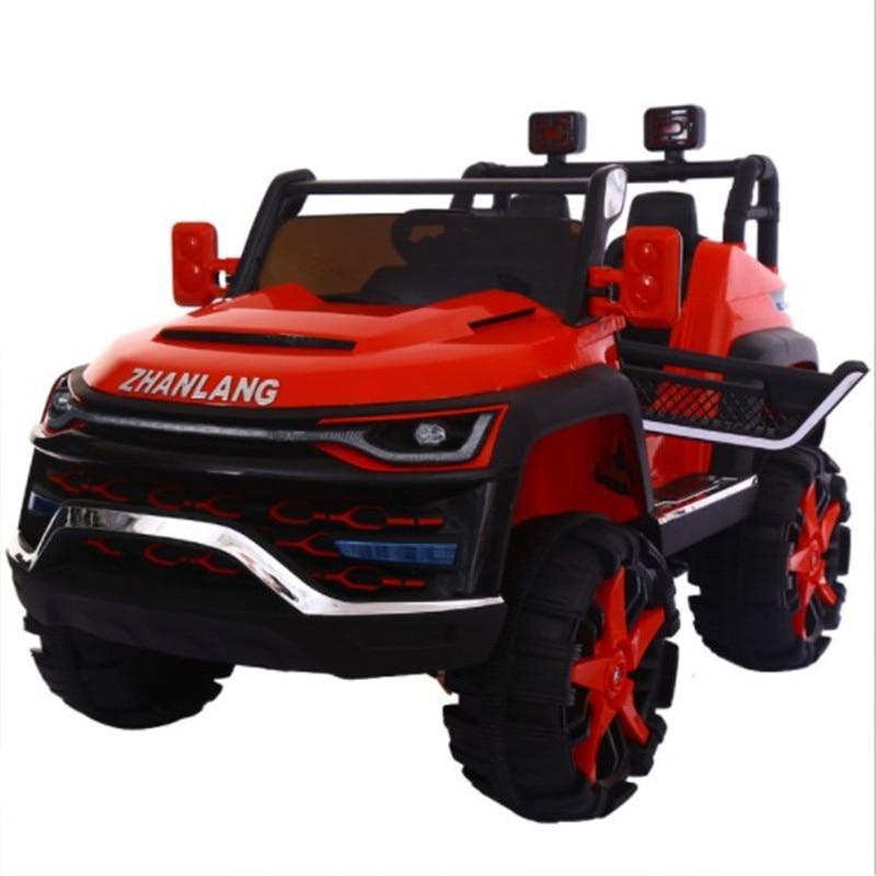 Voiture bébé deux places enfants électrique unisexe quatre roues voiture tout-terrain télécommande jouet voiture peut asseoir les gens balancent Cool voiture - 2