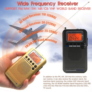 Image 2 - Full Band Stereo Receiver Portable CB/FM/AM/SW Radio with LCD Display Alarm Clock&Earphone