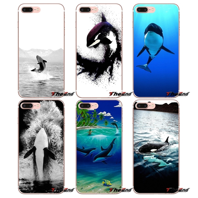 Killer Whale Orca Mobile Phone Case Covers For Sony Xperia Z Z1 Z2 Z3 Z5 compact M2 M4 M5 E3 T3 XA Aqua LG G4 G5 G3 G2 Mini Capa