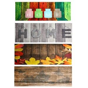 Image 2 - 60x180CM Kitchen Rug Antiskid Mat for Kitchen Floor Long Door Mat Vintage Style Kitchen Rug Non Slip Bedroom Bedside Mats