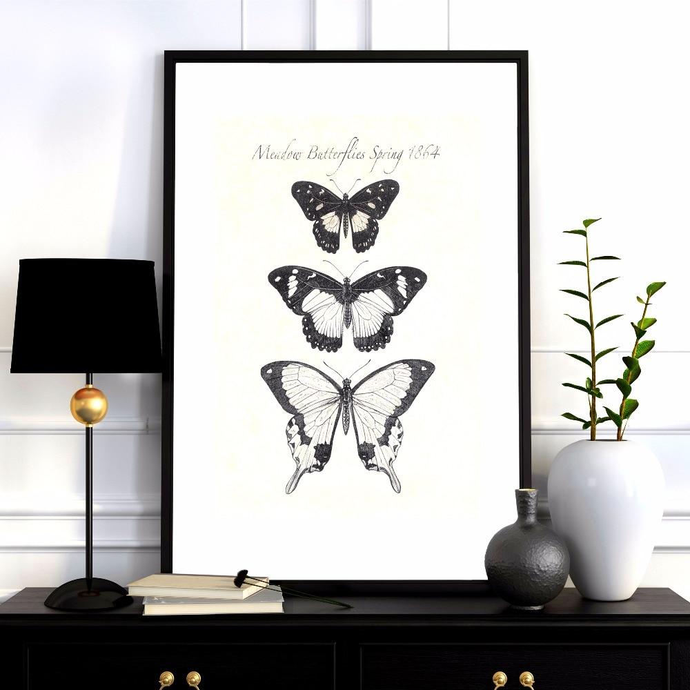 A pillangók növekedése Vászon művészeti nyomtatás Festmény - Lakberendezés - Fénykép 5