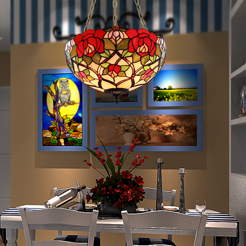 16 Inch European Tiffany Style Garden Pendant Light Bedroom Dining Room Lamp Bar Hanging In Lights From Lighting On Aliexpress