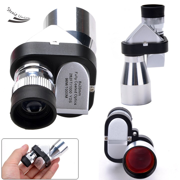 Mini Pocket Size 8X20 Silver Metal Monocular Telescope Eyepiece with font b Night b font font