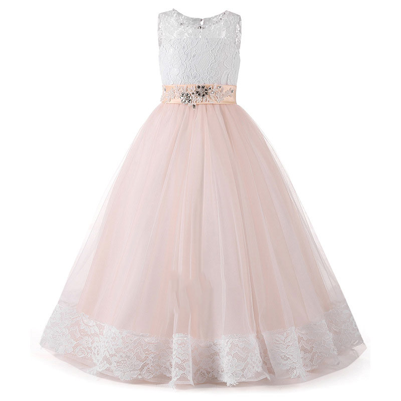 Girls dress Girl Lace Dress Long Tulle Girl Party Dress Elegant Children Clothing Kids Princess Wedding GownGirls dress Girl Lace Dress Long Tulle Girl Party Dress Elegant Children Clothing Kids Princess Wedding Gown