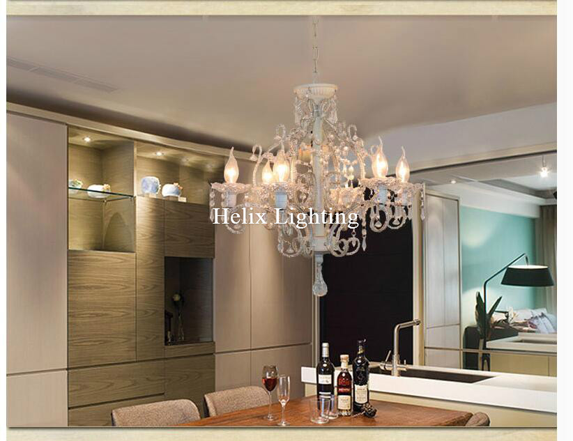 Newly Art Decorative Black/White Color Chandelier Living Room Candle Lamps luxury Acrylic Crystal Chandelier AC Lighting free shipping white blue chandelier living room candle lamps luxury acrylic crystal chandelier lights ac 100% guaranteed