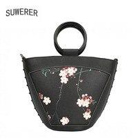 SUWERER/Новинка 2019 года; женские сумки из натуральной кожи с цветами; женская сумка; модные дизайнерские женские сумки от известного бренда