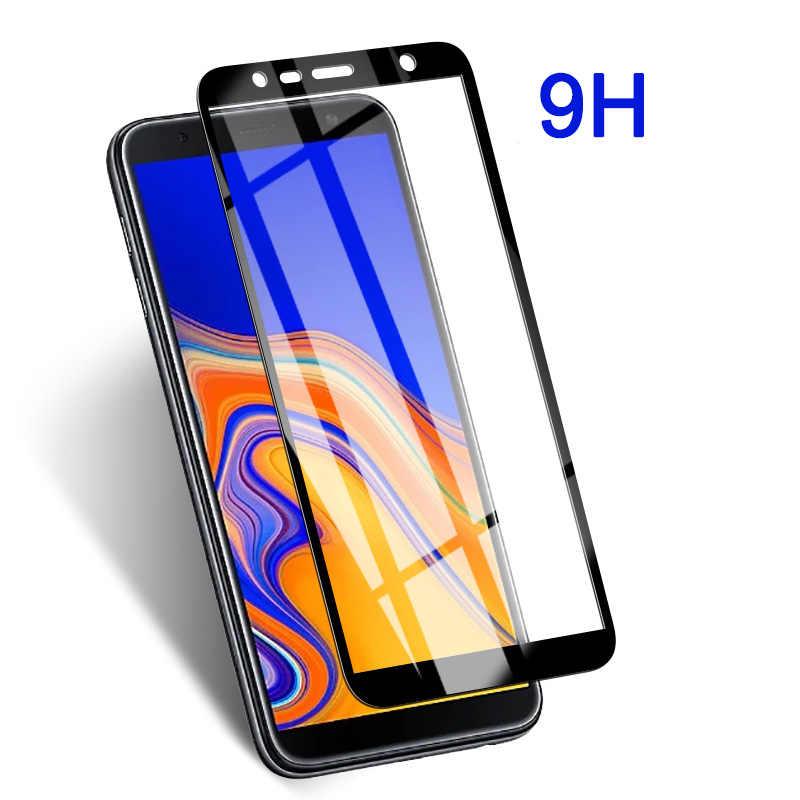 Szkło ochronne na Samsung Galaxy J6 J4 Plus 2018 pełna pokrywa ekranu wyświetlacza Prortector szkło hartowane na j 6 4 6 plus j6plus