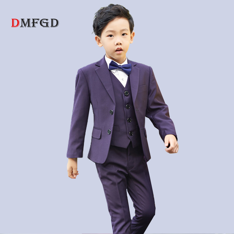 High quality Kids suits boys blazers children formal suits student performance piano costume suit vest shirt sets for boy 5pcs high quality school uniform new fashion baby boys kids blazers boy suit for weddings prom formal gray dress wedding boy suits