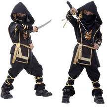 Boy Role playing Cosplay Halloween Costumes Kid Japanese Martial Arts Ninja Fancy Dress Complete Clothing Gift