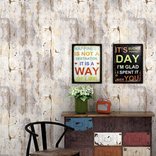 Retro nostalgic industrial style wallpaper Loft PVC Office cafe restaurant Plain color sticker cement Grey