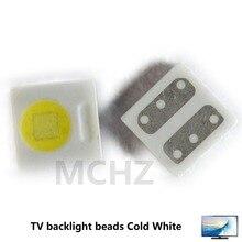 100pcs EVERLIGHT Lextar AOT LED Backlight High Power LED 1W 3030 2828 3V-3.6v Cool white 230LM TV Application 3030 smd led diode цена 2017