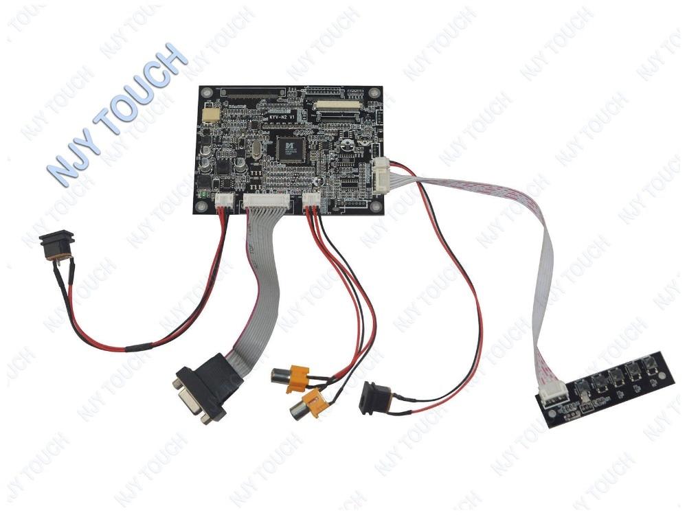 VGA 2AV Reversing TTL 50 pins LCD Controller Board KYV N2