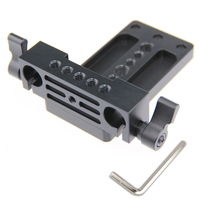 Camera Tripod Quick Release QR Plate+15MM Rod Clamp Railblock Block Adapter For 15mm Rod Support Rail System DSLR C1132