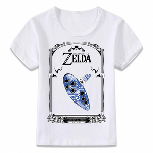 Детская футболка легенда о Зельде Ocarina of Time Hylian Shield, Детская футболка для мальчиков и девочек, рубашки для малышей, футболка oal060
