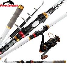 PureLeisure FR08 Fishing Rod Rings Fibra De Carbono 2.1M-3.6M Sea Fishing Rod Artigos De Pesca Feeder Fishing Accessories