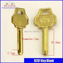 embryo key wholesale Seven point cylinder door key blank  Civil key blank suit for Vertical key cutting machine B201