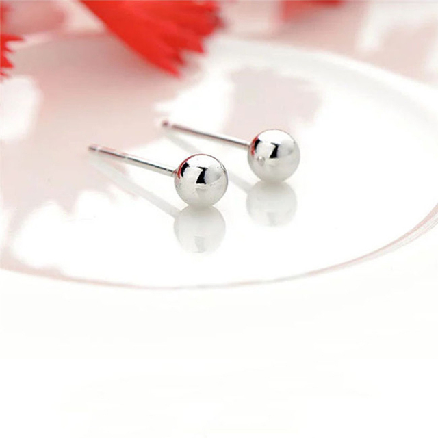 Small Bead Stud Earrings For Women