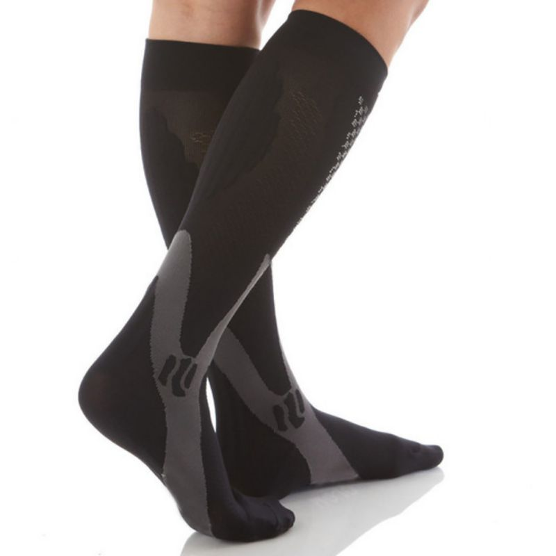 EFINNY Men Women Leg Support Stretch Compression Socks Below Knee Socks